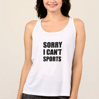 Sorry Can't Sports Singlet