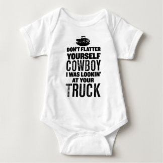 Sorry Cowboy I Was Looking At Your Truck Baby Bodysuit