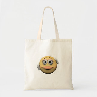 Sorry female emoticon tote bag