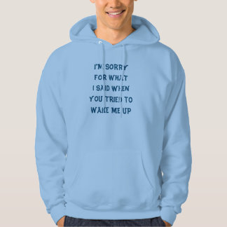 Sorry for what I said when you tried to wake me up Hoodie