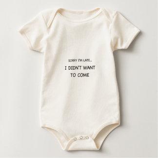 Sorry I Am Late Baby Bodysuit