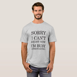 Sorry I can't.  Right now I'm busy introverting T-Shirt