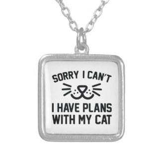 Sorry I Can't Silver Plated Necklace