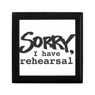 Sorry, I have rehearsal Gift Box