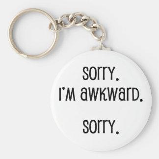 Sorry I'm Awkward Key Ring
