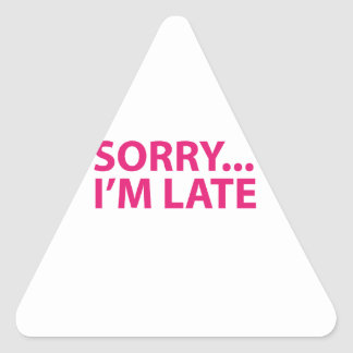 Sorry I'm barks Triangle Sticker