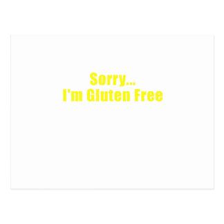 Sorry Im Gluten Free Postcard
