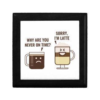Sorry, I'm Latte Small Square Gift Box