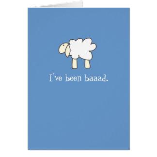 Sorry Lamb Card