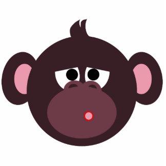 Sorry Monkey pin Photo Sculpture Badge
