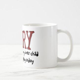 Sorry Outer Adult and Inner Child Basic White Mug