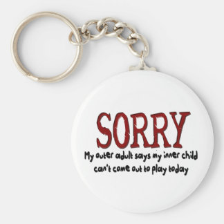 Sorry Outer Adult and Inner Child Key Ring