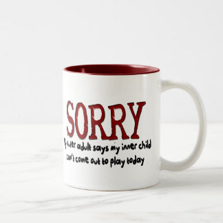Sorry Outer Adult and Inner Child Two-Tone Mug