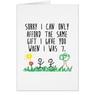 Sorry Parents Card