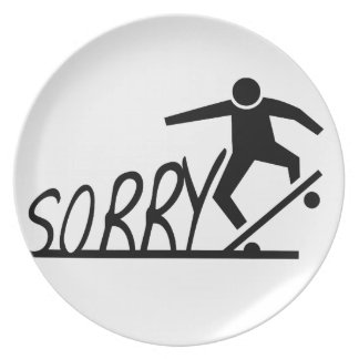 sorry plate