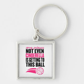 Sorry Princess Volleyball Ball` Key Ring