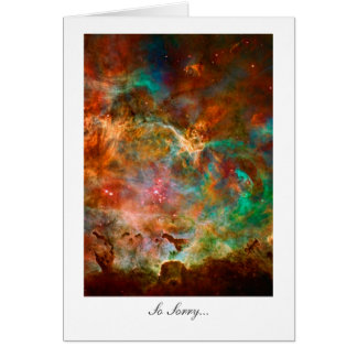 Sorry, Regrets, Apologize - Carina Nebula Stars Card
