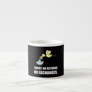 Sorry Returns Exchanges Stork Baby Espresso Cup