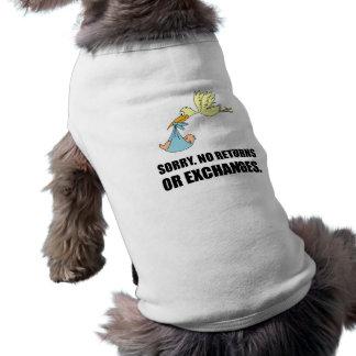Sorry Returns Exchanges Stork Baby Shirt
