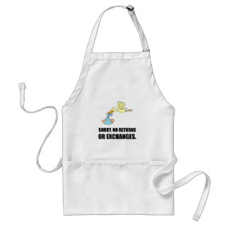 Sorry Returns Exchanges Stork Baby Standard Apron