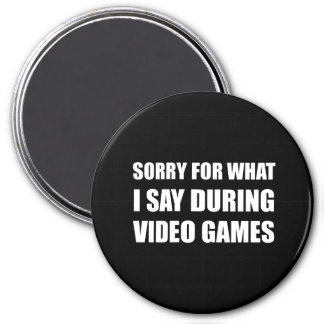 Sorry Say Video Games 7.5 Cm Round Magnet
