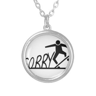 sorry silver plated necklace