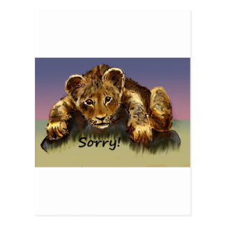 Sorry! The Lion Cub Postcard