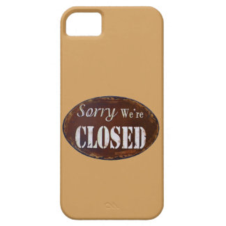 Sorry we're closed barely there iPhone 5 case