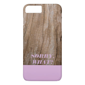 Sorry, What? Light Purple + Wooden Effect iPhone 7 Plus Case