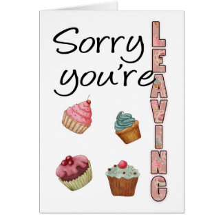Sorry You're Leaving Business Greeting Card