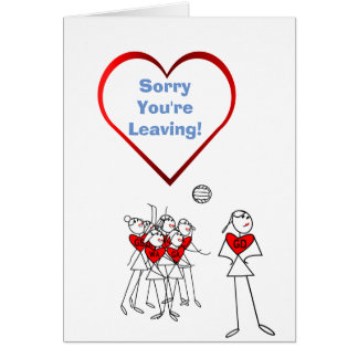 Sorry You're Leaving Netball Greeting Card
