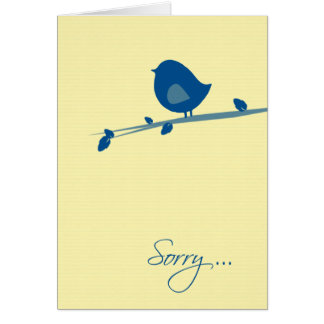 Sorry You're Not Feeling Well-Bird on Tree Branch Card
