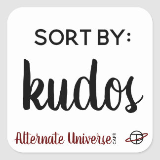 """Sort by: Kudos"" stickers"