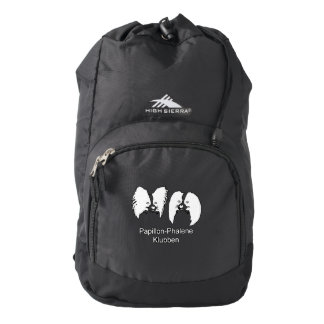Sort rygsæk med hvidt logo backpack