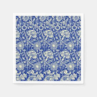 Sorta Blue Calico Disposable Serviette