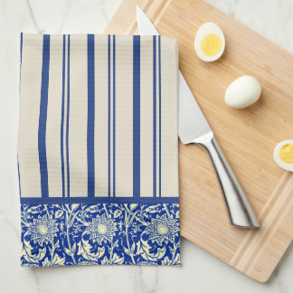 Sorta Blue Calico Stripe (Kitchen Towel) Tea Towel
