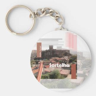 Sortelha - Historical Village of Portugal Basic Round Button Key Ring