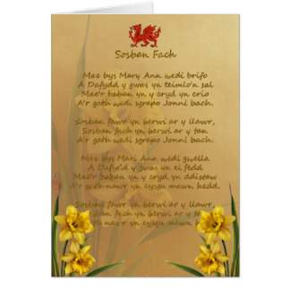 Sosban Fach Welsh Song Card
