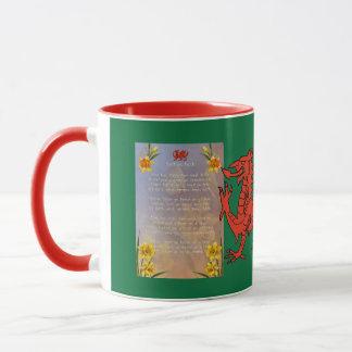 Sospan Fach Daffodil Decorated Mug