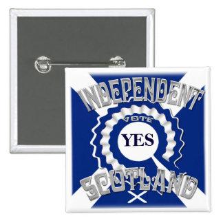 Sottish Independence Campaign 15 Cm Square Badge