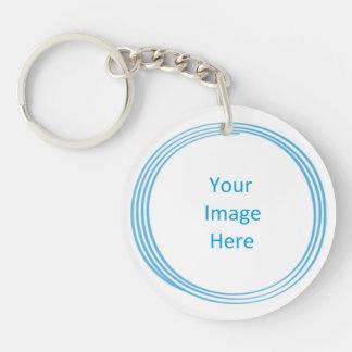 Soul Blissed Circle Custom Key Chain, 2 sided Key Ring