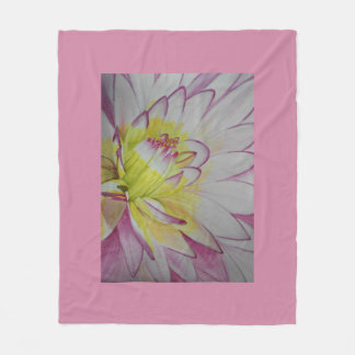 Soul Food Dahlia Watercolor Fleece Blanket