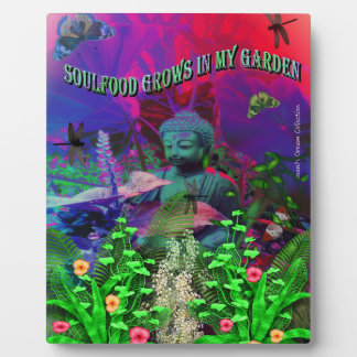 Soul Food Garden Buddha Plaque