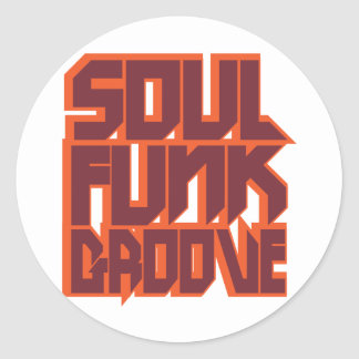 Soul Funk Groove Round Sticker