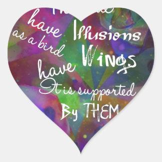 Soul have wings as bird heart sticker