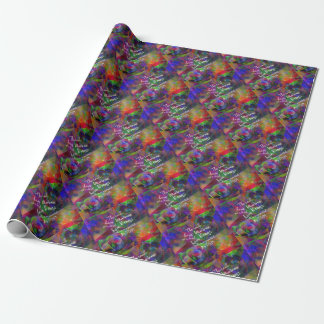Soul have wings as bird wrapping paper