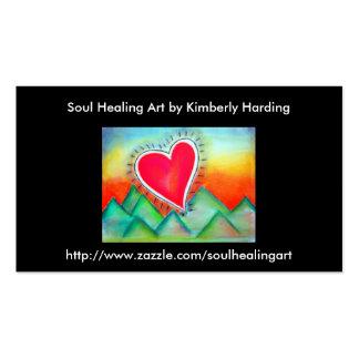 Soul Healing art business card Standard Business Cards