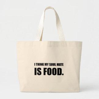 Soul Mate Food Large Tote Bag