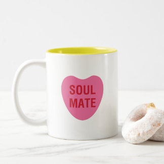 Soul Mate Heart Candy Love Mug in Pink