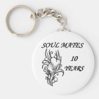 SOUL MATES 10 Years Basic Round Button Key Ring